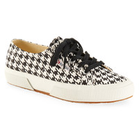 Superga Womens Superga Houndstooth Low-Top Sneakers - Black/White, 6