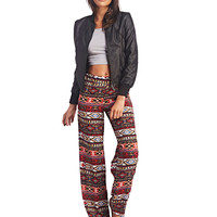 Red Tribal Print Palazzo Pants | Wet Seal