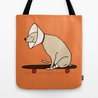 Cone of shame won't stop me Tote Bag by Farnell