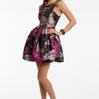 Rose Print Brocade Dress