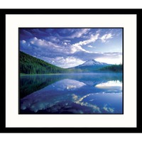 Great American Picture Mt. Hood-Trillium Lake Framed Photograph - Adam Jones - AJ28540