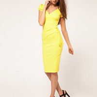 Hybrid Dress with Bow Side at asos.com