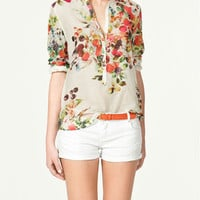 PRINTED BLOUSE - ZARA United States