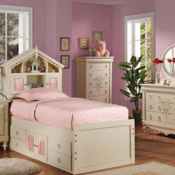 Penelope Dollhouse Bookcase Storge Bed