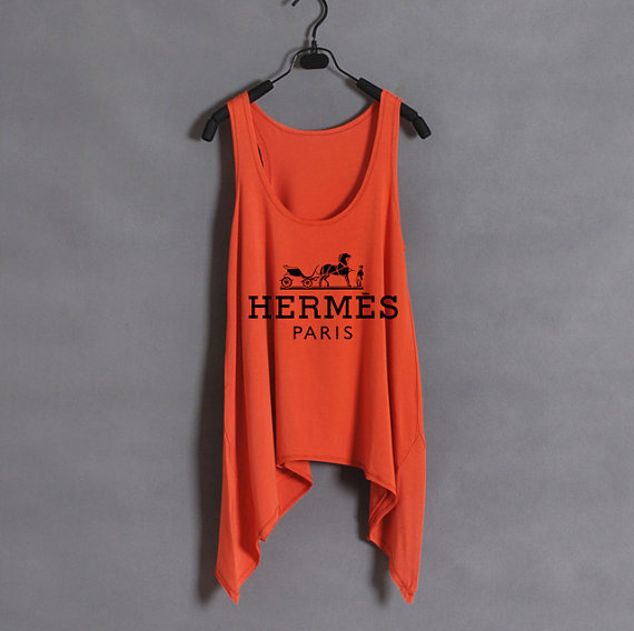 Hermes - Women Tank Top - Orange - Sides Drop