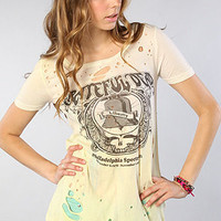 The Liberty Dead Tie Dye Destroyed Slouchy Tee