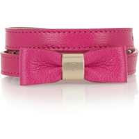 Mulberry Bow-embellished leather waist belt – 40% at THE OUTNET.COM