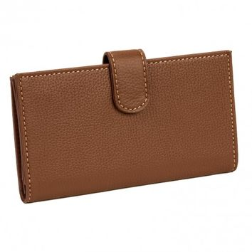 Mundi Women's Leather Rio Tab Checkbook Cover Wallet - Choice of Colors!
