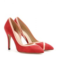 charlotte olympia - vamp suede pumps