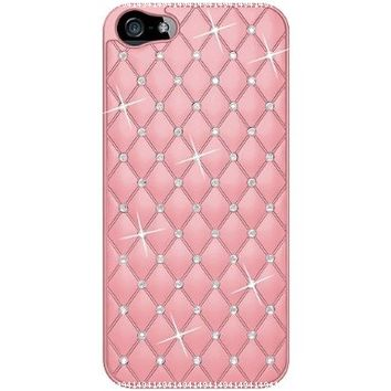 Amzer AMZ94729 Diamond Lattice Snap On Shell Case Cover For Apple iPhone 5, iPhone 5S (Fits All Carriers) - Light Pink:Amazon:Cell Phones & Accessories