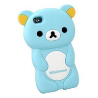 Apple iPhone 4S Rilakkuma: 3-D Case in Blue Snap-On Protector Case by San-X
