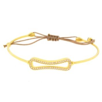 Gold Bangle with CZ