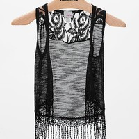 Women's Girls - Open Weave Vestin Black by Daytrip.