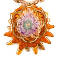 Solar Quartz with Seed of Life