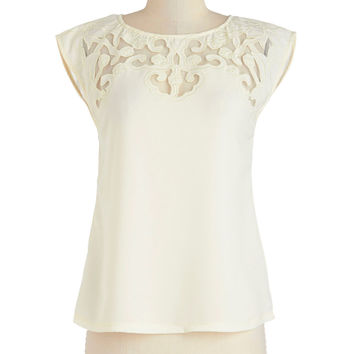 Pottery Date Top in Ivory