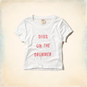 Dibs On The Drummer Crop Top