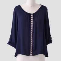 Canyon Pass Embroidered Blouse