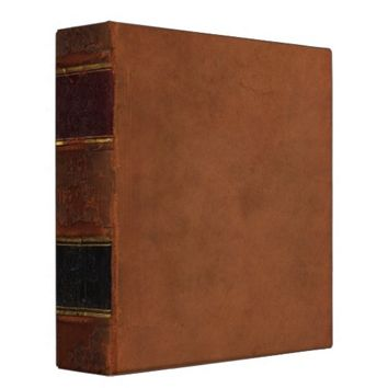 Retro Antique Book, faux leather bound brown