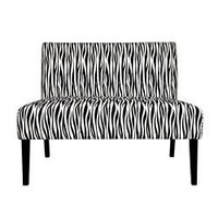 Portfolio Niles Zebra Print Armless Settee | Overstock.com