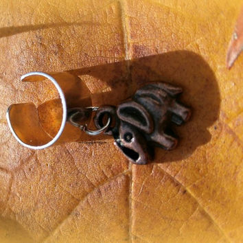 Copper Good Luck Elephant Ear Cuff, Boho, Ready to ship, Direct Checkout