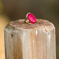 Earth, Wind, & Fire Ring-Aurora Red