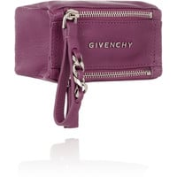 Givenchy - Small Pandora coin pouch in magenta textured-leather