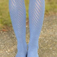 Stand Together Boot Socks-Dusty Blue