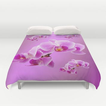Radiant Orchids Duvet Cover by Erika Kaisersot
