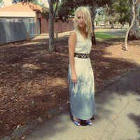 Dip Dyed Ombre White And Blue Maxi .. on Luulla
