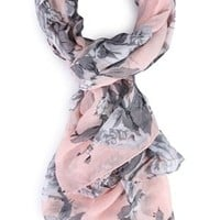 Floral Print Woven Scarf