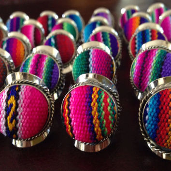 Textile Fabric Rings by Roupoli