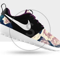 Custom Nike Roshe Run Rose Floral