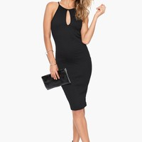 Keyhole Midi Dress