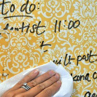DIY glass, paper and frame dry erase