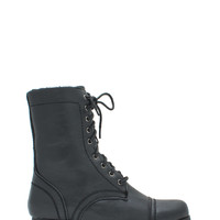 Combat The Cold Lined Lace-Up Boots