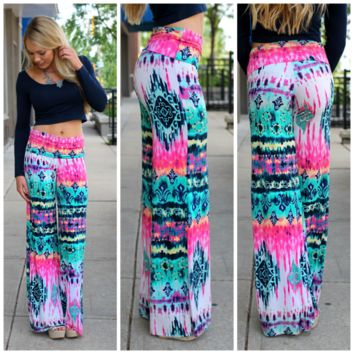 Exotic Bloom Palazzo Pants