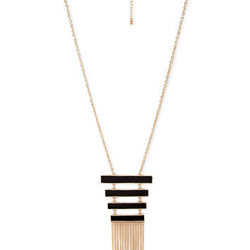 Lacquered Ladder Pendant Necklace