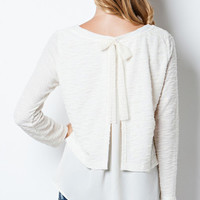 SARAH BELLE BOW SWEATER