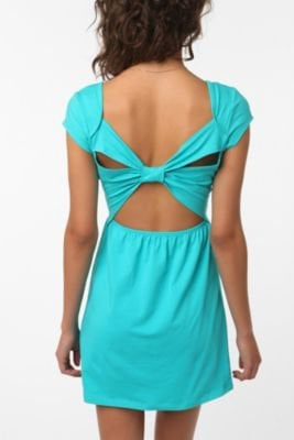 Sparkle & Fade Knit Bow-Back Dress