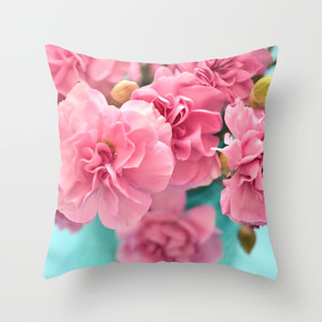 Pink Darlings Throw Pillow by Lisa Argyropoulos   Society6