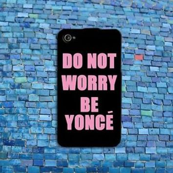 Funny Black and Pink Beyonce Quote Cute Phone Case Cover iPhone 4 4s 5 5s 5c