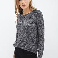 Faux Leather-Paneled Sweater
