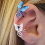 Butterfly Ear Cuff Wire Wrap CUSTOM COLOR