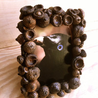 Rustic Photo Frame, Wedding Picture Frame, Home Decor, Pine Cone, Picture frames, Unique picture frame