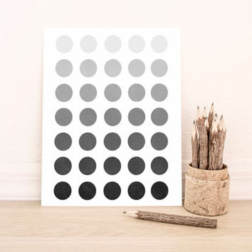 Printable Art Abstract Ombre Black and White Geometric Poster Office Art Nursery Art Apartment Art Decor Dorm Art Bathroom Art