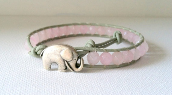 Elephant Good Luck Charm, Dyed Jade  Wrap Bracelet, Chan Luu