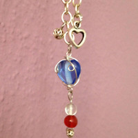 Red white and blue Necklace, patriotic necklace