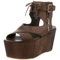Boutique 9 Women`s Highroller Platform Sandal,Dark Brown,8 M Us
