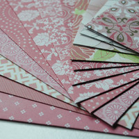 Pink Floral and Patterned Set of 12 Handmade Envelopes by Paper Hearts Station on Etsy
