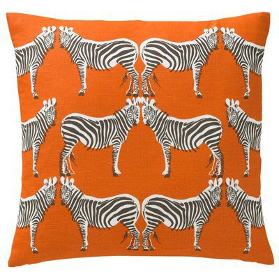 DwellStudio Home Zebra Tangerine Pillow